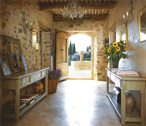 La entrada o hall en las casas de campo el pardalot - Entrada de casas ...
