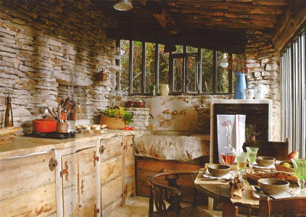 Cocinas en casas de campo el pardalot - Cocinas rusticas de campo ...