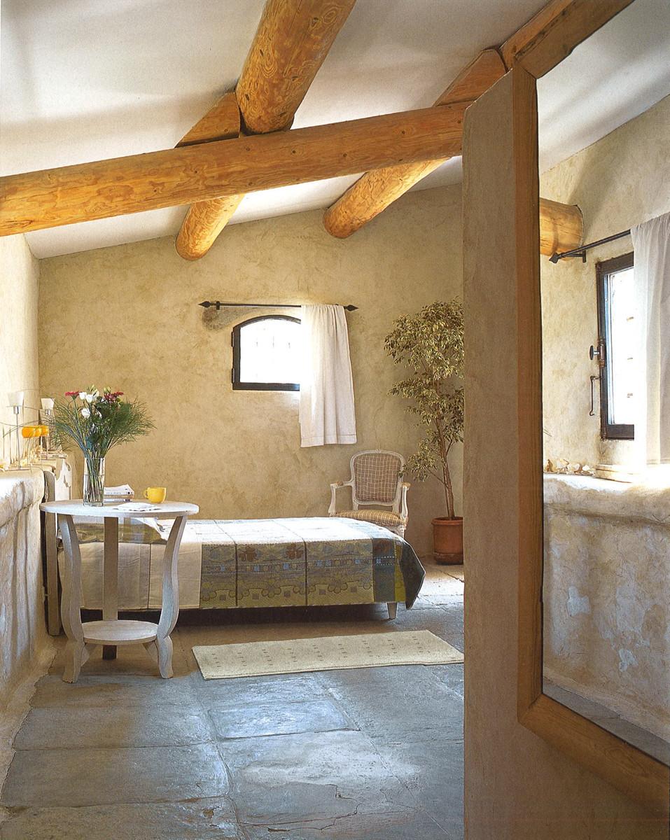 El dormitorio en la casa de campo provenza francesa el pardalot - Casas en la provenza ...