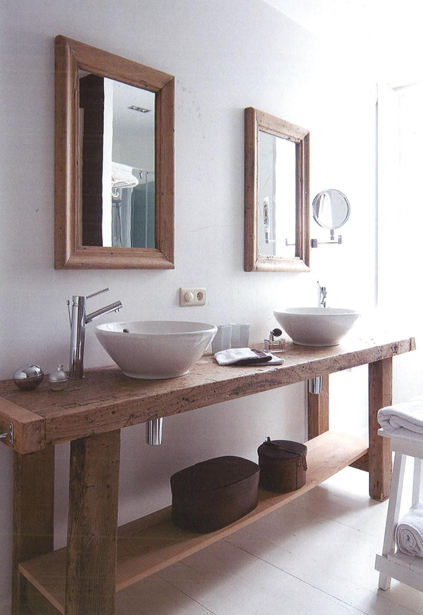 Mezclar estilos, el cuarto de baño.   EL PARDALOT