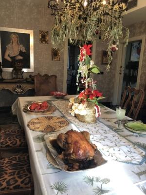 mi comedor preparado para recibir la Navidad, el pardalot, ofelia aparici